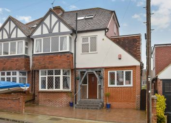 Thumbnail 4 bedroom semi-detached house for sale in Lodge Avenue, Cosham, Portsmouth