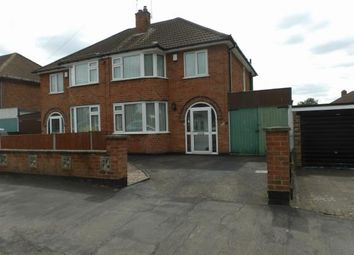 Thumbnail 3 bedroom semi-detached house for sale in Queensgate Drive, Birstall, Leicester, Leicestershire