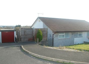 Thumbnail 2 bed semi-detached bungalow for sale in Meadway, St Austell, Cornwall