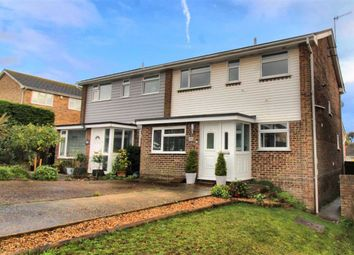 Thumbnail 3 bedroom semi-detached house for sale in Valley Drive, Seaford, East Sussex