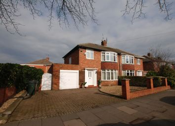 Thumbnail 3 bedroom semi-detached house for sale in Broadway East, Gosforth, Newcastle Upon Tyne