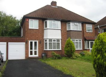 Thumbnail 3 bedroom semi-detached house to rent in Bonner Drive, Walmley, Sutton Coldfield