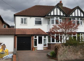 Thumbnail 4 bed semi-detached house for sale in Gresham Road, Hall Green, Birmingham