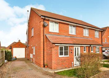 Thumbnail 3 bed semi-detached house for sale in Garden Court, Fakenham