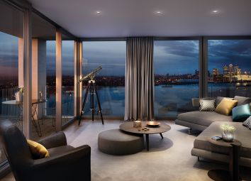 Thumbnail 2 bed flat for sale in Royal Wharf, Pontoon Dock