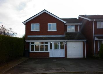 Thumbnail 4 bed detached house to rent in Jersey Close, Redditch