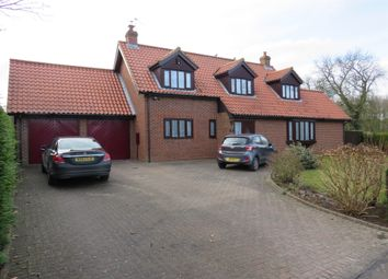 Thumbnail 3 bed detached house for sale in Station Road, Hillington, King's Lynn