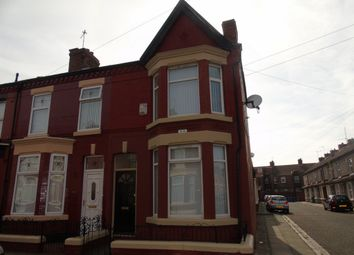 Thumbnail 3 bed terraced house to rent in Kempton Road, Wavertree