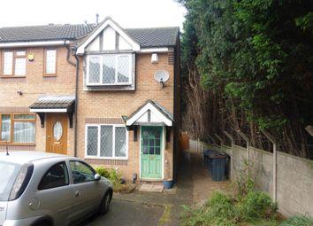 Thumbnail 2 bedroom end terrace house for sale in Chaucer Close, Erdington, Birmingham