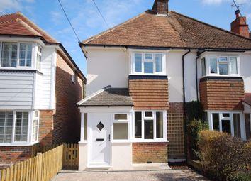 Thumbnail 2 bed semi-detached house for sale in Long Mill Lane, Plaxtol, Sevenoaks, Kent