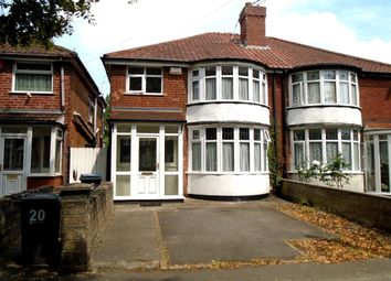 Thumbnail 3 bed semi-detached house to rent in Patrick Road, Yardley, Birmingham