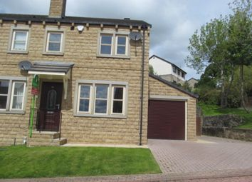 Thumbnail 3 bed town house to rent in Moor Drive, Oakworth, Keighley