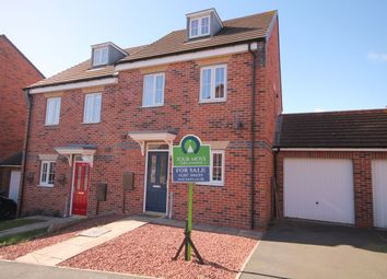 Thumbnail 3 bed semi-detached house for sale in Deepdale Drive, Delves Lane, Consett