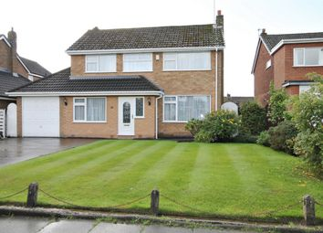 Thumbnail 4 bed detached house for sale in Chatsworth Avenue, Culcheth, Warrington
