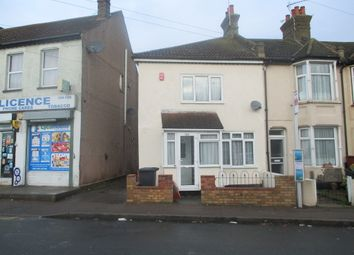 Thumbnail 2 bed end terrace house to rent in Milton Road, Swanscombe
