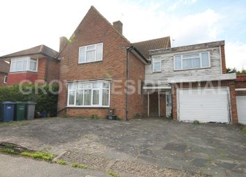 Thumbnail 4 bed detached house for sale in Harrowes Meade, Edgware, Middlesex.