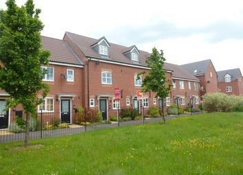 Thumbnail 3 bed town house to rent in Jeque Place, Stretton, Burton-On-Trent