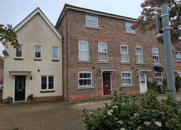 Thumbnail 3 bed town house for sale in Wagtail Drive, Bury St. Edmunds
