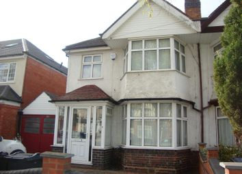 Thumbnail 3 bed semi-detached house to rent in Warwick Road, Biirmingham