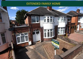 Thumbnail 4 bedroom semi-detached house for sale in Gainsborough Road, Knighton, Leicester