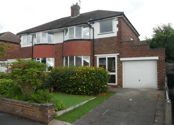 Thumbnail 3 bedroom semi-detached house to rent in Belgrave Avenue, Marple, Stockport, Greater Manchester