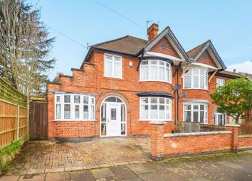 Thumbnail 4 bed semi-detached house for sale in Dixon Drive, Stoneygate, Leicester