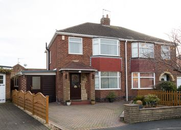 Thumbnail 3 bedroom semi-detached house for sale in Belmont Close, Rawcliffe, York