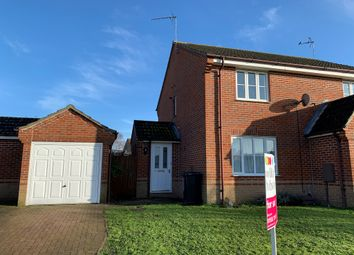 Thumbnail 2 bed semi-detached house for sale in Wallace Close, King's Lynn