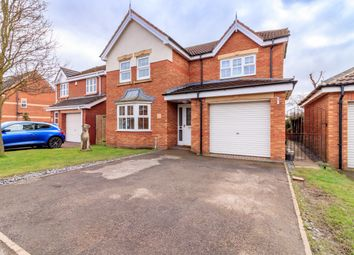 Thumbnail 4 bed detached house for sale in Willowmead Close, Scunthorpe