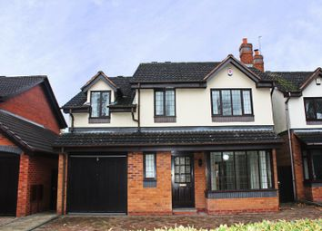 Thumbnail 4 bed detached house to rent in Somerby Drive, Solihull, West Midlands