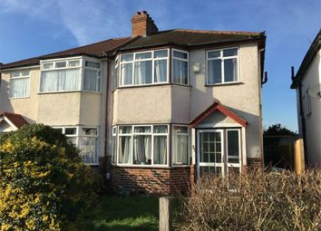 Thumbnail 3 bed semi-detached house for sale in Riverholme Drive, West Ewell, Epsom
