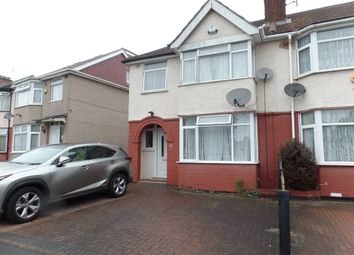 Thumbnail 4 bed semi-detached house to rent in Mansell Road, Greenford