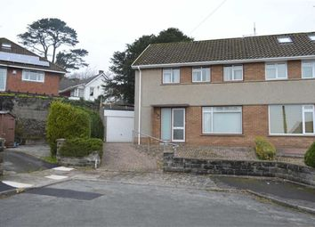 Thumbnail 3 bed semi-detached house for sale in Dolgoy Close, West Cross, Swansea