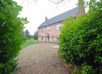 Thumbnail 4 bed farmhouse to rent in Mangreen, Swardeston, Norwich