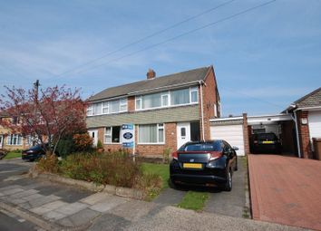 Thumbnail 3 bedroom semi-detached house for sale in Swinhoe Gardens, Wideopen, Newcastle Upon Tyne