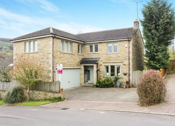 Thumbnail 5 bed detached house for sale in Mount View Road, Hepworth, Holmfirth