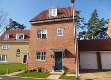 Thumbnail 4 bedroom link-detached house for sale in Hastings Close, Thetford