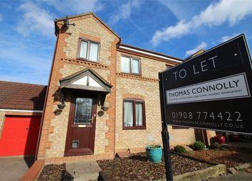 Thumbnail 3 bedroom semi-detached house to rent in Goathland Croft, Emerson Valley, Milton Keynes, Buckinghamshire