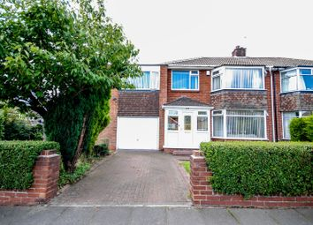 Thumbnail 5 bed semi-detached house for sale in Briardene Crescent, Gosforth, Newcastle Upon Tyne