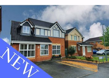 Thumbnail 4 bed detached house for sale in Newport Close, Wrexham