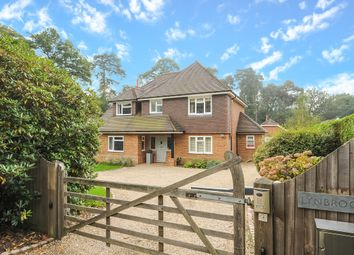 Thumbnail 4 bed detached house to rent in Chertsey Road, Windlesham