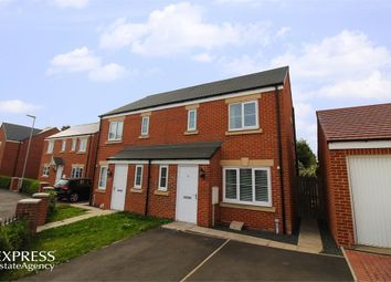 Thumbnail 3 bed semi-detached house for sale in Sandringham Way, Newfield, Chester Le Street, Durham