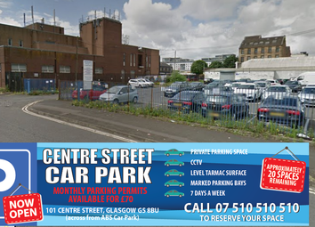 Thumbnail Parking/garage to let in Centre Street, Glasgow