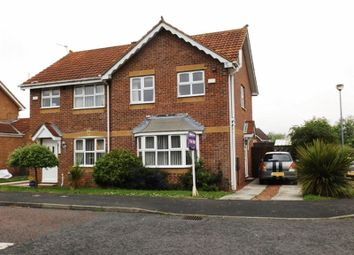 Thumbnail 3 bed semi-detached house for sale in Kirkharle Drive, Pegswood, Morpeth