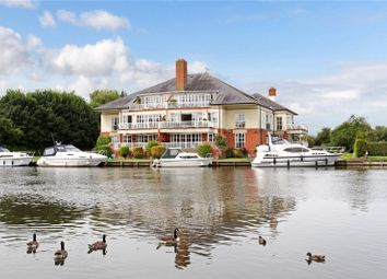 Thumbnail 3 bed flat for sale in Dockett Moorings, Mead Lane, Chertsey, Surrey