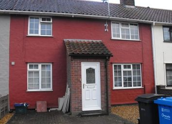 Thumbnail 1 bed terraced house to rent in Bassingham Road, Norwich