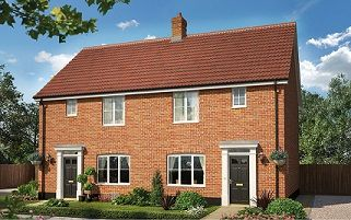 Thumbnail 3 bedroom semi-detached house for sale in Hunstanton Road, Heacham, King's Lynn