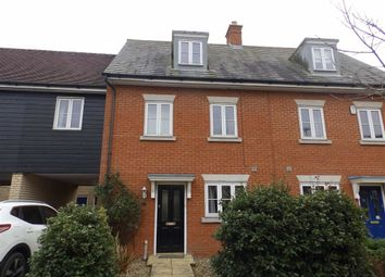 Thumbnail 4 bed town house to rent in Demoiselle Crescent, Ipswich