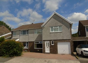 Thumbnail 4 bed semi-detached house for sale in Towyn Way, Tonteg, Pontypridd
