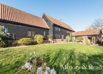 Thumbnail 4 bed barn conversion for sale in Hawes Green, Shotesham St. Mary, Norwich